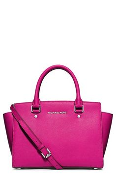 MICHAEL Michael Kors 'Medium Selma' Zip-Top Satchel available at #Nordstrom
