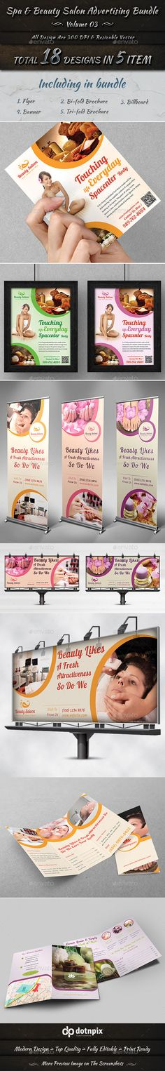 Spa & Beauty Salon Advertising Bundle | Volume 3