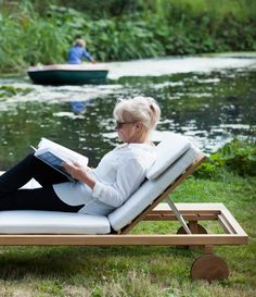 vis vis loungers by trib at swimming pond - Outdoor Lounge Vis A Vis