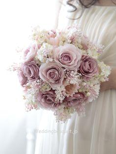 Mauve pink rose and gentle lilac round bouquet--. - Mauve pink rose and gentle lilac round bouquet– - Cascading Bridal Bouquets, Silk Bridal Bouquet, Silk Wedding Bouquets, Purple Wedding Flowers, Wedding Flower Arrangements, Purple Roses, Bride Bouquets, Flower Bouquet Wedding, Rose Bouquet
