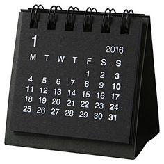 無印良品 再生紙デスクトップミニカレンダー2016