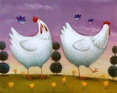 cute chicken art