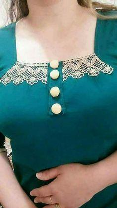 N/A Churidhar Neck Designs, Salwar Neck Designs, Churidar Designs, Neck Designs For Suits, Kurta Neck Design, Neckline Designs, Blouse Neck Designs, Kurti Neck, Indian Designer Wear