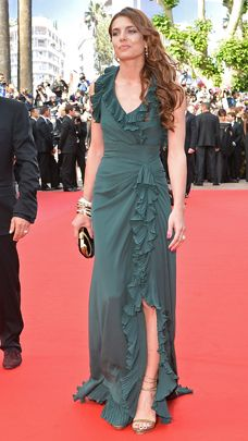"""Charlotte Casiraghi, daughter of Princess Caroline of Monaco, arrives for the screening of """"Madagascar 3 Europe's Most Wanted"""" wearing Gucci at the 65th Cannes film festival on May 18, 2012, in Cannes."""