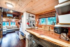 Live Edge Kitchen Counter - Basecamp by Backcountry Tiny Homes