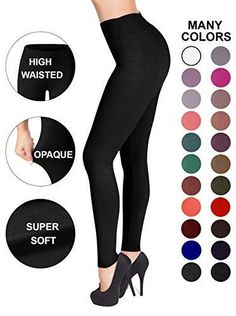 75c5adf3cc551d Sejora Satina High Waisted Leggings   25 Colors   Super Soft Full Length  Opaque Slim. Workout LeggingsWomen's ...