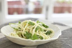Lemon Ricotta Spaghetti with Arugula