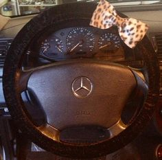 Black steering wheel cover with Cheetah print by jazziecreations, $12.00