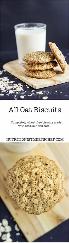 All oat brown sugar biscuits. Crunchy and perfect with tea or a glass of milk. Completely wheat-free, so can me made GF by using GF oats