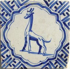 Delft, (17th century?) with Wanli-type border