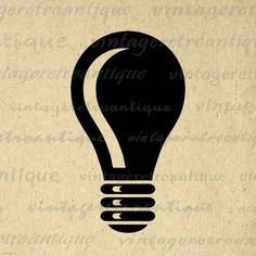 Light Bulb Graphic Digital Printable Idea Light Bulb Image