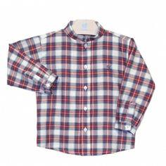 Sportief overhemd rood geruit