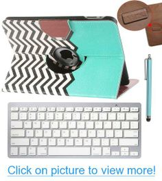 Pandamimi ULAK(TM) 360 Degree Rotating Magnetic PU Leather Stand Smart Case Cover for Apple iPad 1 1st Generation with Bluetooth Keyboard, Stylus and Screen Protector (iPad 1 1st Generation, FOLLOW THE SKY)