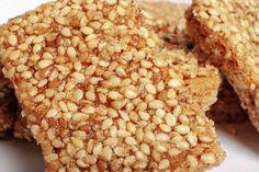 Barritas de sésamo veganas y sin gluten / Vegan and gluten free sesame bars