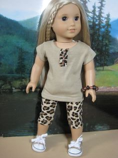 18 inch Doll Clothes American Girl Leopard Print by nayasdesigns, $22.00