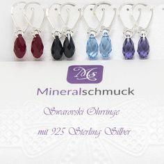 Swarovski Ohrringe mit 925 Sterling Silber Schmuck Online Shop, Amethyst, Drop Earrings, Jewelry, Sterling Silver Jewelry, Gems Jewelry, Rhinestones, Bracelet, Jewlery