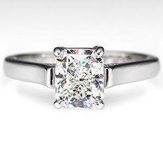 Tiffany & Co. Radiant Diamond Engagement Ring Platinum