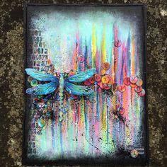 Beautiful mixed media by Karen Hayselden