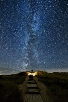 A place in Ireland where every two years on June 10-18 the stars line up with this place. It's called heavens trail. by Amai10shi
