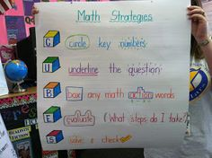 Timeouts and Tootsie Rolls: More Test Prep anchor strategies Test Taking Strategies, Math Strategies, Math Resources, Math Activities, Math Charts, Math Anchor Charts, Cubes Math Strategy, Fourth Grade Math, Math Notebooks