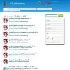 Créteil@EduMarket : Un répertoire d'applications pour l'enseignement 'http://edumarket.crdp-creteil.fr/' snapped on Snapito!
