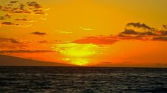 Orange Pacific sunset