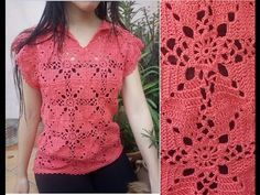 Jersey coral crochet 3 - YouTube