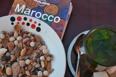 Marocco. Mint tea and nuts.