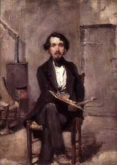 Alfred Stevens - Self portrait « Self portraits and portraits of painters selected by artist Paul Gosselin « Paul Gosselin « Users albums « Art might - just art Album Art, Artist At Work, Painter, Steven, Artist, Alfred Stevens, Art Historian, Art Uk, Portrait