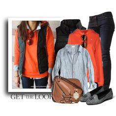 Fall Outfit - Puffer Vest & Loafer