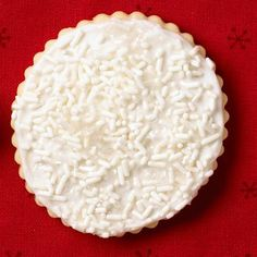 How to make a snowfall cookie: http://www.midwestliving.com/food/holiday/how-to-decorate-dazzling-cookies/?page=9