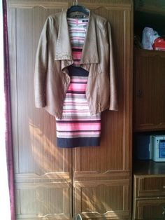 Sukienka w kolorowe paski F&F - vinted.pl