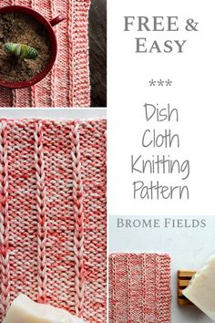 Grab your FREE Beginner Dishcloth Knitting Pattern. Learn how to knit this stitc… Grab your FREE Beginner Dishcloth Knitting Pattern. Learn how to knit this stitch in a row by row VIDEO tutorial that will help you along the way 🙂 Beginner Knitting Patterns, Dishcloth Knitting Patterns, Knit Dishcloth, Knitting For Beginners, Knitting Stitches, Free Knitting, Crochet Afghans, Crochet Blankets, Knitting Needles