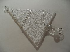 Snowy Winter Glass Fused Christmas tree ornament by sherrylee16, $13.00