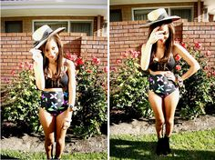 DIY high-waisted bathing suit bottoms from a one-piece