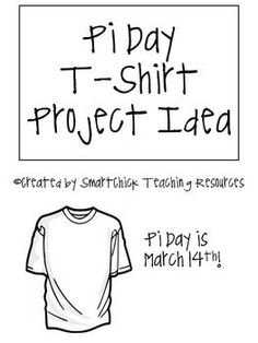 "A fun way to celebrate Pi-Day! Each student designs a Pi Day t-shirt using the pi symbol and the word ""pi""! Just like Vam ""Pi""re Bat! Makes a cute bulletin board display! Math Teacher, Math Classroom, Teaching Math, Teaching Time, Creative Teaching, Teaching Ideas, Classroom Ideas, Math Resources, Math Activities"