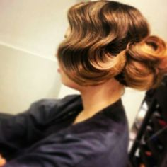 finger wave created with tongs in about 10 minutes.  prefect for a great gatsby theme  hair by roxy farrier info@roxyfarrier.co.uk