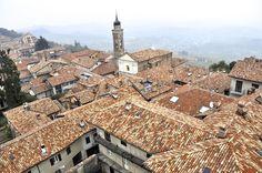 The terra cotta roofs of La Morra, Italy