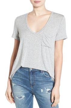 Free shipping and returns on Lush Deep-V Neck Tee at Nordstrom.com. The search for the perfect tee stops here, so stock up on this ultrasoft staple made from a fluid stretch jersey. Finished with a plunging V-neckline, short sleeves and a solo patch pocket, you'll wonder how you lounged without it.