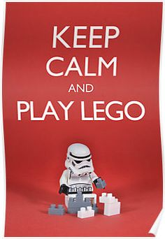 Keep calm and play lego poster, $10 #lego # poster #geek