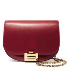 e9aab1bd6c66 Victoria Beckham Box Chain Leather Shoulder Bag Leather Chain