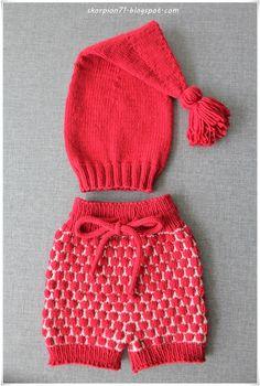 Tantestrikk: Lang nisselue m/dusk og bobleshorts Aktiv, Winter Hats, Baby, Ideas, Fashion, Creative, Moda, Fashion Styles, Baby Humor
