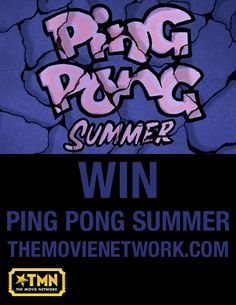 "Win ""Ping Pong Summer"" on #Bluray from The Movie Network. #Giveaway #PinItToWinIt #Movies #SusanSarandon"