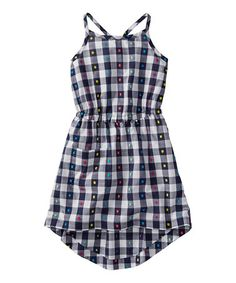 Loving this Navy Plaid Hi-Low Dress - Infant, Toddler & Girls on #zulily! #zulilyfinds