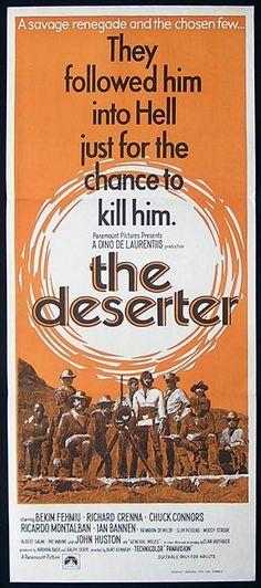the deserter cavalry movie posters   ... Spaghetti Western Chuck Connors Fehmiu Daybill Movie Poster   eBay