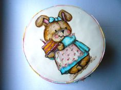 Hand painted bunny...