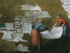 détail : Jan Brueghel L'Ancien et Joos De Momper , Marché flamand et place de la lessive, vers 1620, musée du Prado Madrid