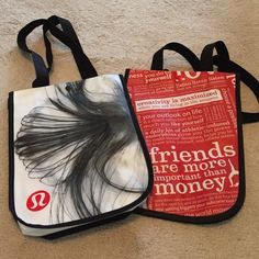 Set of 2 small Lululemon bags 2 new Lululemon bags size small lululemon athletica Bags Totes