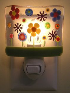 fused glass night light idea