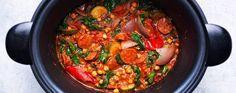 Chickpea and chorizo casserole